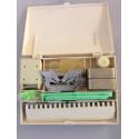 Zubehörbox f. Strickmaschine Krallengewichte Motivleisten Nüsschen etc. original Brother