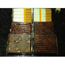 10 X Zigaretten Box Tabak Etui Case Spender Ohne Feuerzeug