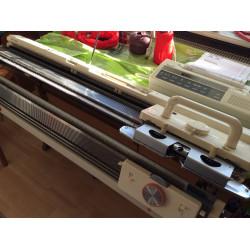Doppelbett Strickmaschine Silver Reed SK830 + FRP70 + EC-1 super fein