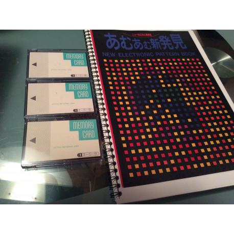 3er Set Memory Karte Silver Reed Strickmaschine design Controller PE-1 original