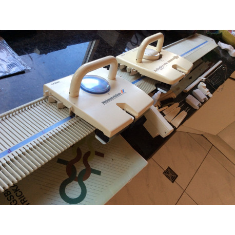 Strickmaschine Brother KX350 + Schlitten KX395 7mm 176 Nadeln
