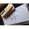 Lochkarten für Strickmaschine 3,6m 30er Rapport +Lochzange 3,6mm