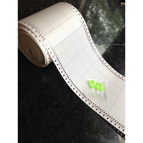 100 Lochkarten als eine Rolle 33 Meter 4,5mm 24er Rapport 4 Clips