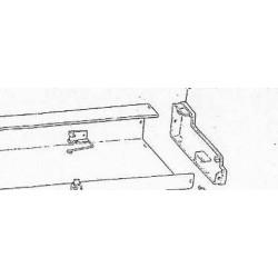 Rechte Endkappe Endteil für Brother Strickmaschine KH230 KH160 Deckel