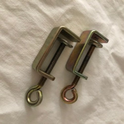 2er Set Eibettzwinge, Schraubzwinge, Tischzwinge für Brother Einbett-Strickmaschine